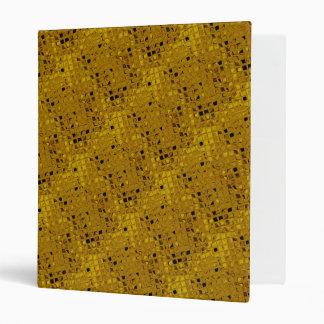 Shiny Bling Metallic Yellow Gold Diamonds 3 Ring Binder