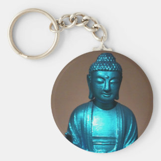 shiny Blue Buddha Keychain