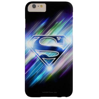 Shiny Blue Burst Superman Logo Barely There iPhone 6 Plus Case