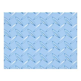 shiny blue diamond plate textured flyer