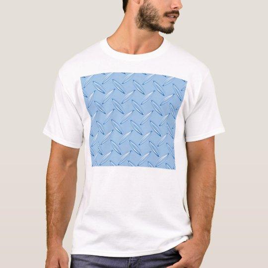 shiny blue diamond plate textured T-Shirt