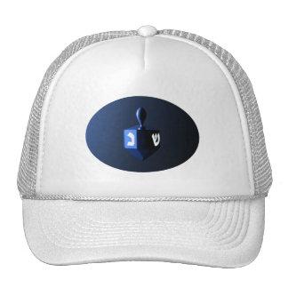 Shiny Blue Dreidel Trucker Hat