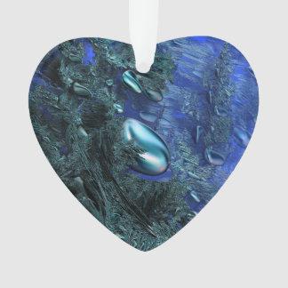 Shiny blue pebbles ornament
