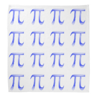 Shiny  Blue Pi Symbol Bandanas