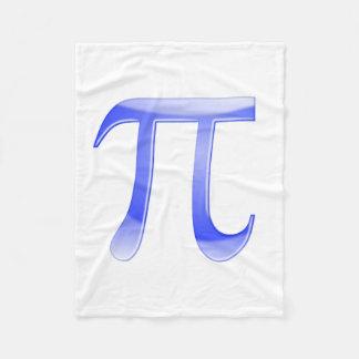 Shiny  Blue Pi Symbol Fleece Blanket