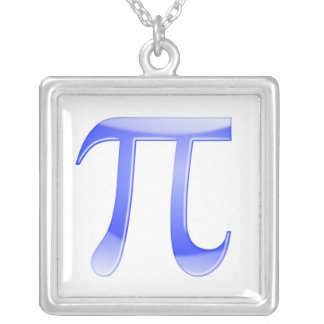 Shiny  Blue Pi Symbol Jewelry