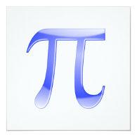 Shiny  Blue Pi Symbol Personalized Invite