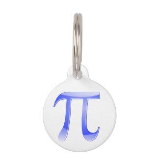 Shiny  Blue Pi Symbol Pet Tag