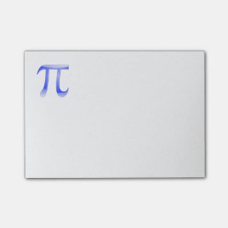Shiny  Blue Pi Symbol Post-it Notes