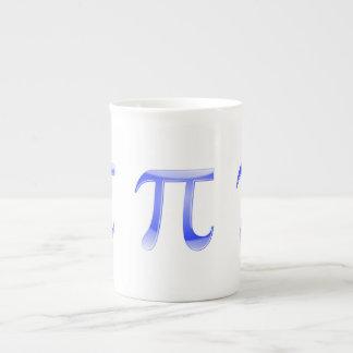 Shiny  Blue Pi Symbol Bone China Mug