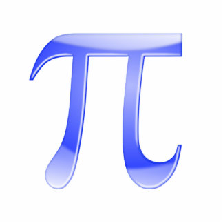 Shiny  Blue Pi Symbol Statuette