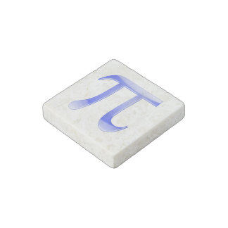 Shiny  Blue Pi Symbol Stone Magnet