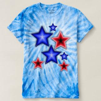 Shiny Blue & Red Stars T-shirt