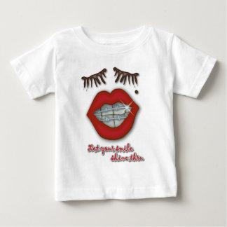 Shiny Braces, Red Lips, Mole, and Thick Eyelashes Baby T-Shirt