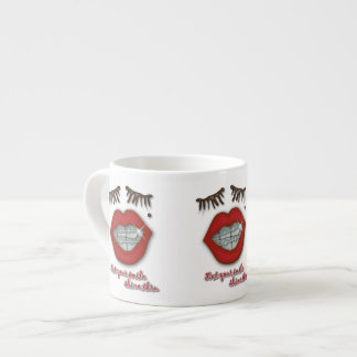 Shiny Braces, Red Lips, Mole, and Thick Eyelashes Espresso Cup