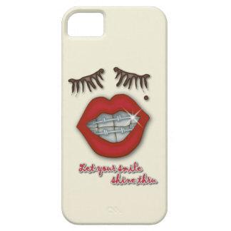 Shiny Braces, Red Lips, Mole, and Thick Eyelashes iPhone SE/5/5s Case