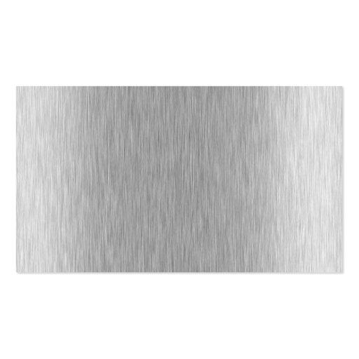 shiny brushed aluminum business card