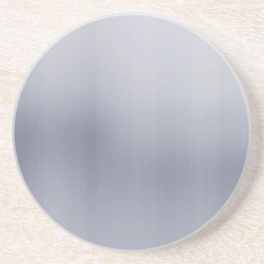 Shiny Brushed Aluminum Textured Drink Coaster