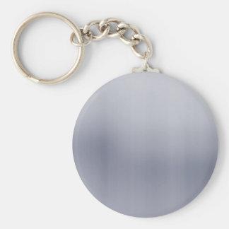 Shiny Brushed Aluminum Textured Keychain
