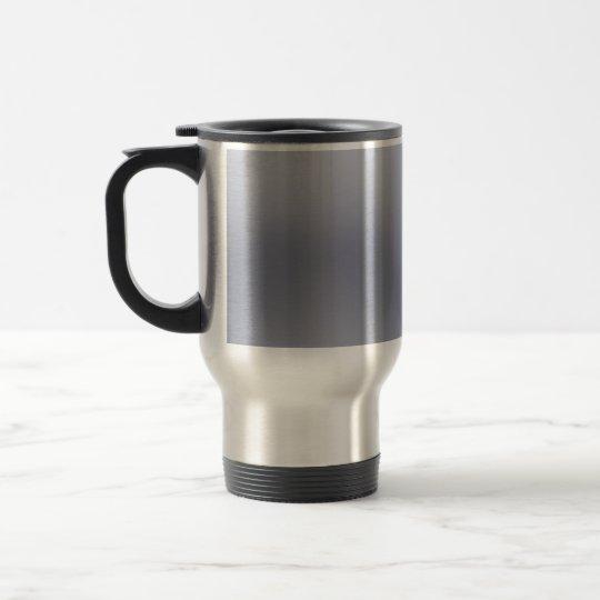 Shiny Brushed Aluminum Textured Travel Mug
