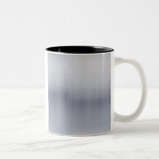 Shiny Brushed Aluminum Textured Two-Tone Coffee Mug