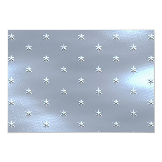 Shiny Brushed Star Metallic Texture Card