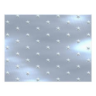 Shiny Brushed Star Metallic Texture Flyer