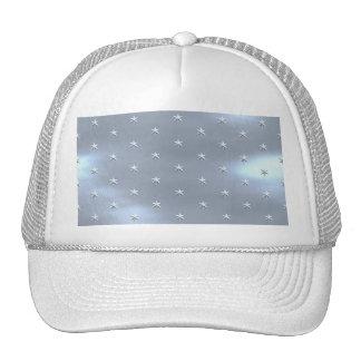 Shiny Brushed Star Metallic Texture Hat