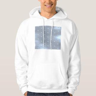 Shiny Brushed Star Metallic Texture Hoodie