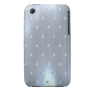 Shiny Brushed Star Metallic Texture iPhone 3 Cover