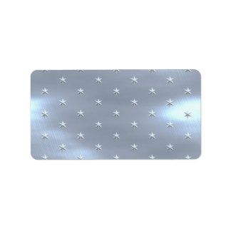 Shiny Brushed Star Metallic Texture Label