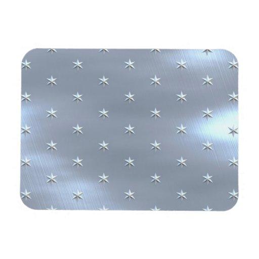 Shiny Brushed Star Metallic Texture Magnet
