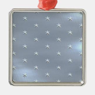 Shiny Brushed Star Metallic Texture Ornament