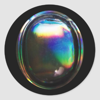 Shiny Bubble Rainbow Reflections Design Classic Round Sticker