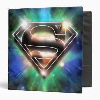 Shiny Burst Superman Logo 3 Ring Binders