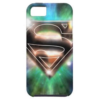 Shiny Burst Superman Logo iPhone 5 Cases