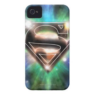 Shiny Burst Superman Logo iPhone 4 Case-Mate Cases