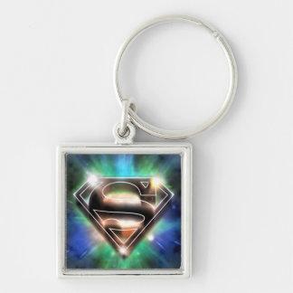 Shiny Burst Superman Logo Key Chain