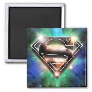 Shiny Burst Superman Logo Magnets