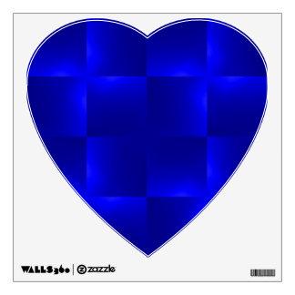 shiny checks inky blue wall decal