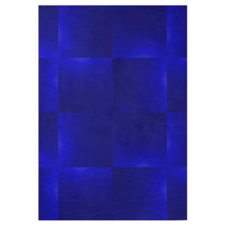 shiny checks inky blue wood poster