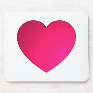 Shiny Cherry Red Heart Mouse Pad