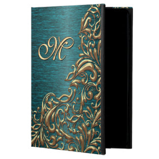 Shiny Chic Faux Gold Baroque Floral Swirl Pattern Powis iPad Air 2 Case