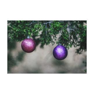 Shiny Christmas Ornament Canvas Print