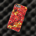 Shiny Christmas Ornaments - Gold Red Tough iPhone 6 Case