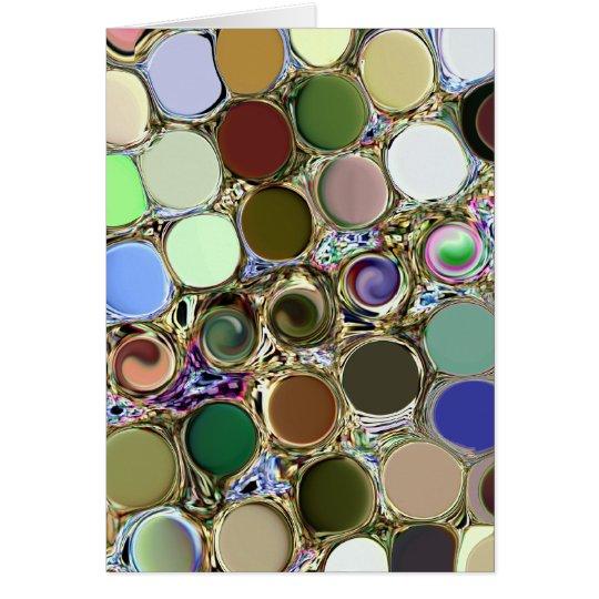 Shiny Circles Card