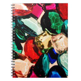 Shiny Colorful Gemstones Gems Jewels Crystals Nice Spiral Notebook