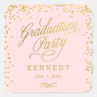Shiny Confetti Editable Color Graduation Stickers