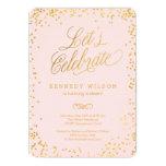 Shiny Confetti Editable Color Party Invitation