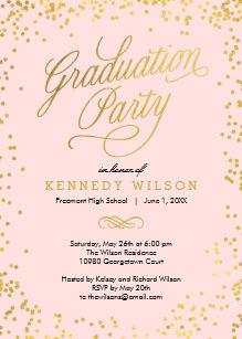 Pink Graduation Invitations Zazzle